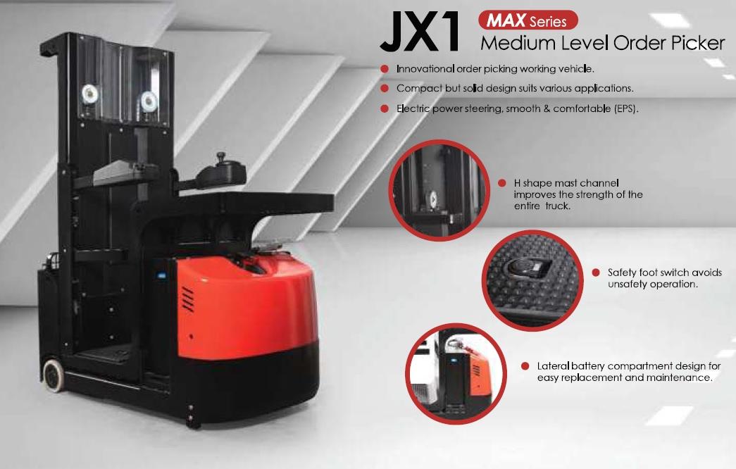 EP JX1 elektrische orderpicker 4